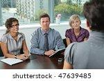panel of business people... | Shutterstock . vector #47639485