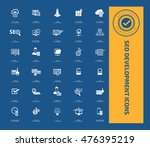 seo development icon set vector | Shutterstock .eps vector #476395219