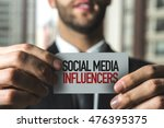 social media influencers | Shutterstock . vector #476395375