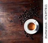 Cup Of Espresso With Dark...