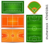 sport playfield  court.... | Shutterstock .eps vector #476401861