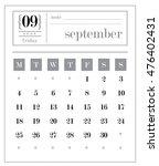 calendar template series... | Shutterstock .eps vector #476402431