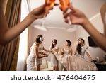 bridesmaids having fun with... | Shutterstock . vector #476404675