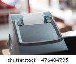 printer bill small black. | Shutterstock . vector #476404795