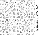 doodle business icons or... | Shutterstock .eps vector #476412451