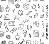 doodle business icons or... | Shutterstock .eps vector #476412529