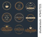 vintage coffee logo elements ... | Shutterstock .eps vector #476417221