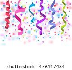 vector streamers and confetti... | Shutterstock .eps vector #476417434