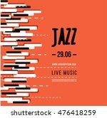 jazz music festival  poster... | Shutterstock .eps vector #476418259