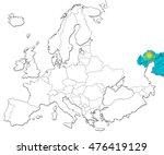 the national kazakhstan flag in ... | Shutterstock . vector #476419129
