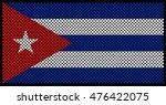 vector cuban flag.dotted flag... | Shutterstock .eps vector #476422075