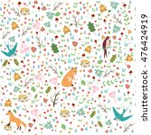 raster illustration pattern... | Shutterstock . vector #476424919