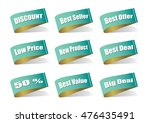various label best product ... | Shutterstock .eps vector #476435491