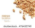 oat granola breakfast cereal... | Shutterstock . vector #476435749