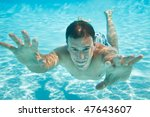 Man Swimming With Open Eyes...