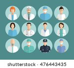 avatar doctor  hospital staff... | Shutterstock .eps vector #476443435