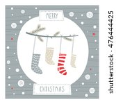 greeting card  merry christmas. ... | Shutterstock .eps vector #476444425