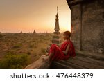 Small photo of The plain of Bagan on during sunrise, Mandalay, Myanmar