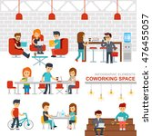 coworking space infographic... | Shutterstock .eps vector #476455057