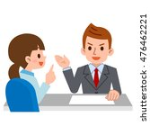 person to consult at the... | Shutterstock .eps vector #476462221
