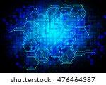 dark blue color light abstract... | Shutterstock .eps vector #476464387