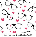 sunglasses and hearts vector...