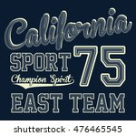 california sport typography  t...   Shutterstock .eps vector #476465545