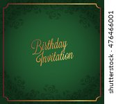 happy birthday card and... | Shutterstock .eps vector #476466001