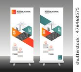 roll up banner stand design... | Shutterstock .eps vector #476468575