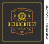 oktoberfest greeting card or... | Shutterstock .eps vector #476470984
