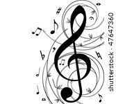 music  background   vector   Shutterstock .eps vector #47647360