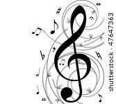 music  background   jpg | Shutterstock . vector #47647363