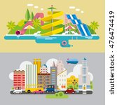 modern flat design conceptual... | Shutterstock .eps vector #476474419