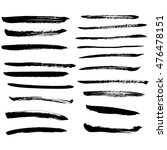 set of black ink vector stains | Shutterstock .eps vector #476478151