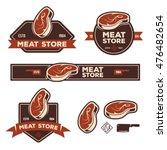set of retro labels badges... | Shutterstock .eps vector #476482654