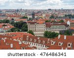 panoramic view of prague from... | Shutterstock . vector #476486341