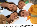 friendship and people concept   ...   Shutterstock . vector #476487895