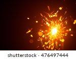 christmas sparkler in haze with ... | Shutterstock . vector #476497444