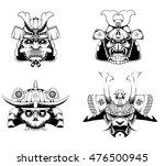 samurai mask | Shutterstock .eps vector #476500945