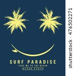 aloha typography with smiling... | Shutterstock .eps vector #476502271