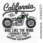 california motorcycle... | Shutterstock .eps vector #476502277
