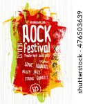 vector rock music poster... | Shutterstock .eps vector #476503639