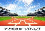 baseball stadium playground... | Shutterstock . vector #476505145