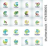 vector set of internet letter... | Shutterstock .eps vector #476508001