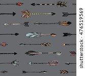 hand drawn tribal arrows... | Shutterstock .eps vector #476519569