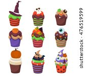 cupcake happy halloween scary... | Shutterstock .eps vector #476519599