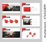 Red triangle presentation templates, Infographic elements template flat design set for annual report brochure flyer leaflet marketing advertising banner template | Shutterstock vector #476522899