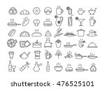 set of icons of food | Shutterstock .eps vector #476525101