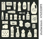 cleanser and washing icons set | Shutterstock .eps vector #476532895