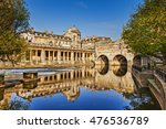 pulteney bridge and weir on the ... | Shutterstock . vector #476536789